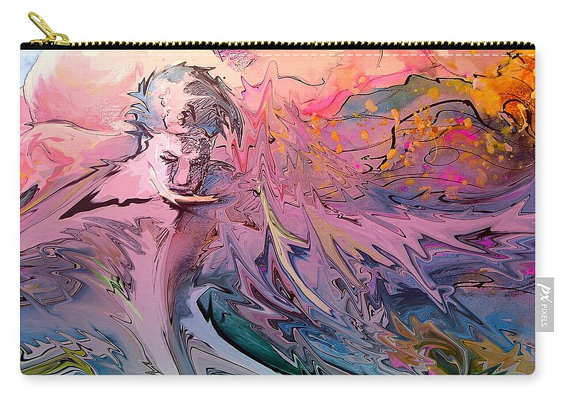 Miki Carry-all Pouch featuring the painting Eroscape 10 by Miki De Goodaboom