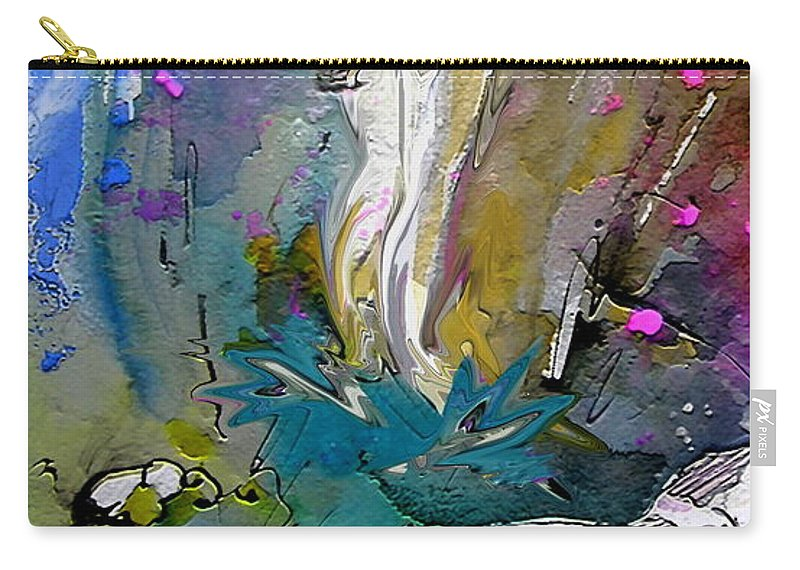 Miki Carry-all Pouch featuring the painting Eroscape 1104 by Miki De Goodaboom