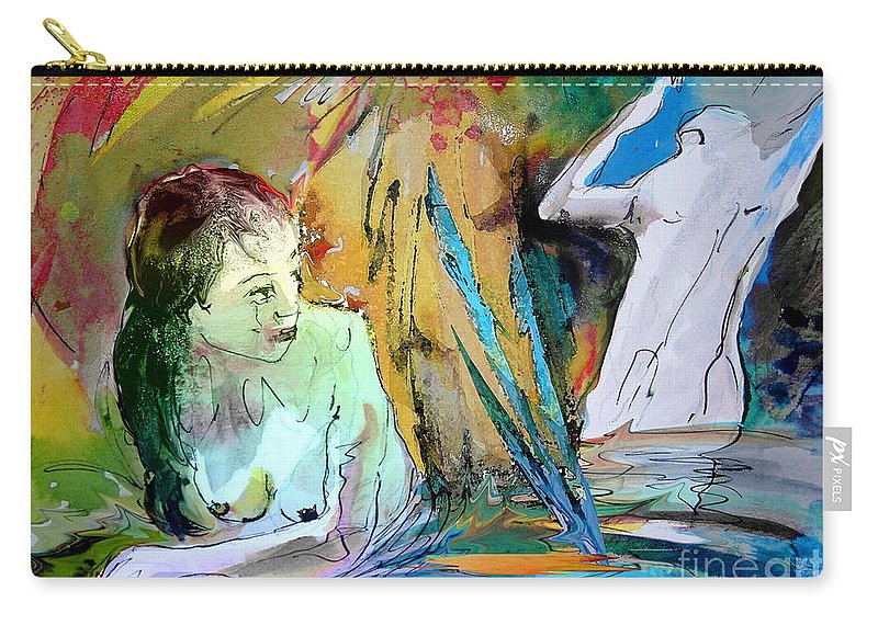 Miki Carry-all Pouch featuring the painting Eroscape 15 1 by Miki De Goodaboom