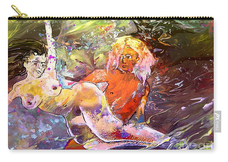 Miki Carry-all Pouch featuring the painting Erotype 06 1 by Miki De Goodaboom