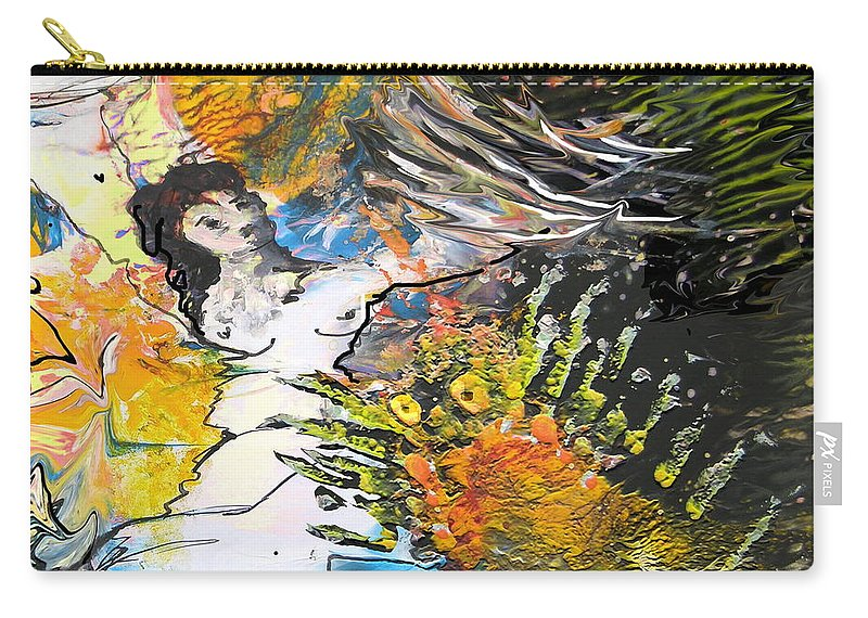 Miki Carry-all Pouch featuring the painting Erotype 07 2 by Miki De Goodaboom