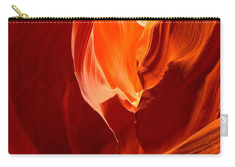 Flames Carry-all Pouch featuring the photograph Erupting Flames by Adam Jewell