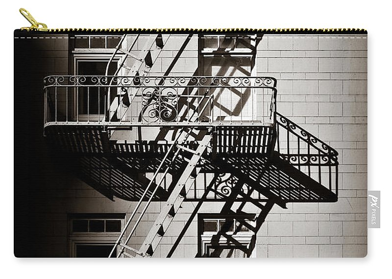 Fire Escape Carry-all Pouch featuring the photograph Escape by Dave Bowman