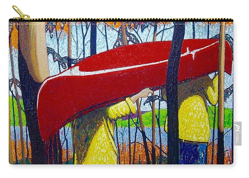 Portage Carry-all Pouch featuring the painting Escape Is At Hand For The Travellin' Man by Robert Tokley
