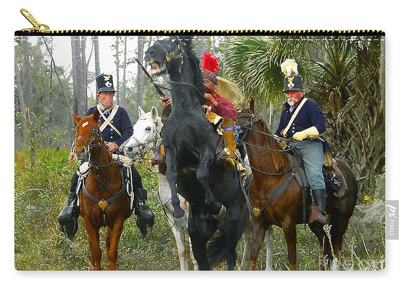 Seminole Indians Carry-all Pouch featuring the photograph Escape Of Billy Bowlegs by David Lee Thompson