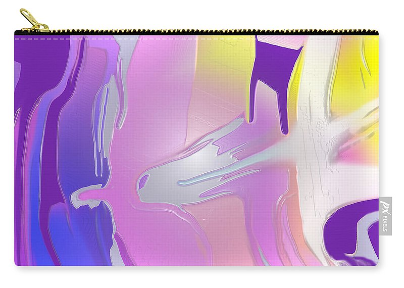 Abstract Carry-all Pouch featuring the digital art Escaping Rigidity by Ian MacDonald