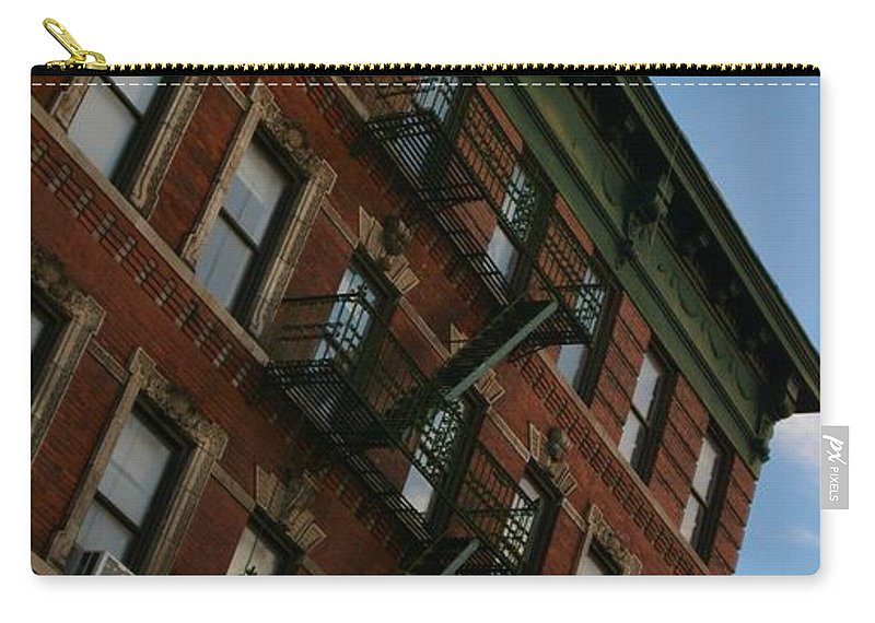 New York Carry-all Pouch featuring the photograph Escaping The Angles by Joseph Tomarchio