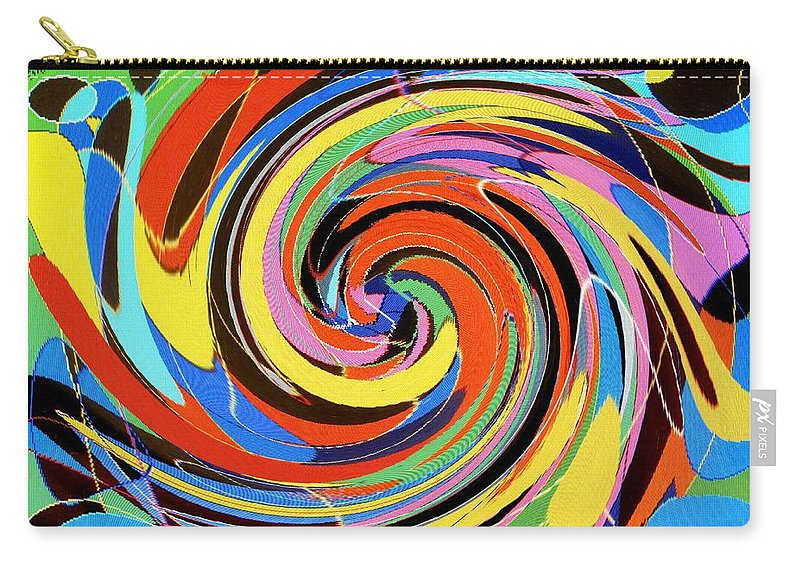 Carry-all Pouch featuring the digital art Escaping The Vortex by Ian MacDonald