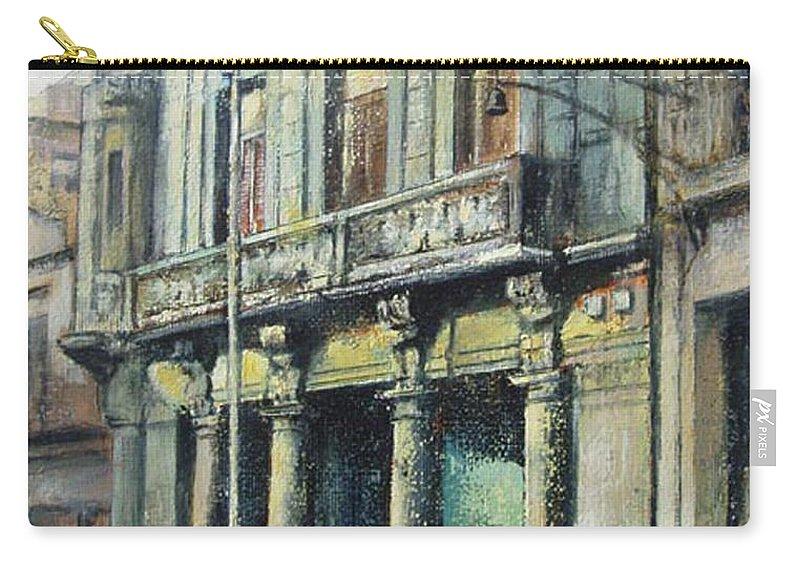 Havana Carry-all Pouch featuring the painting Esplendor en la habana by Tomas Castano