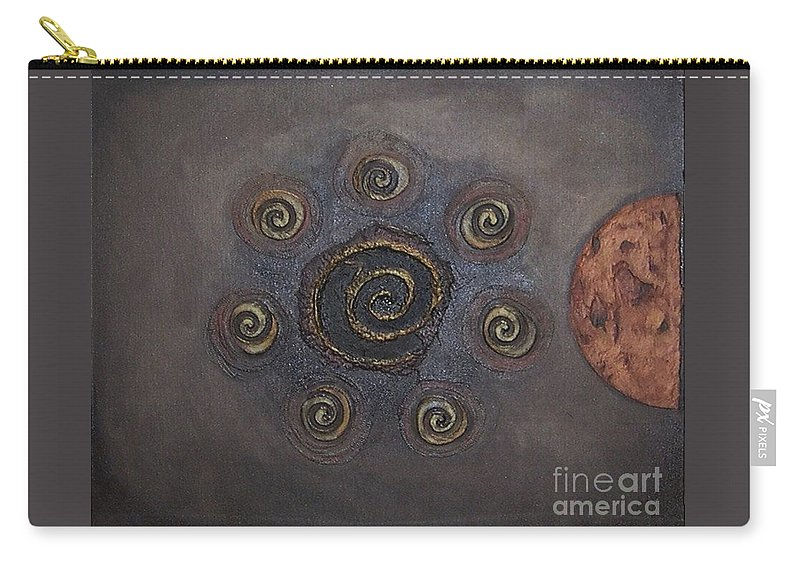 Sets Carry-all Pouch featuring the painting Espresso Roast by Marlene Burns