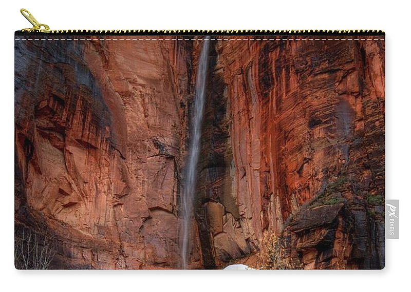 Waterfall Carry-all Pouch featuring the photograph Essence Of Grace by Bill Sherrell