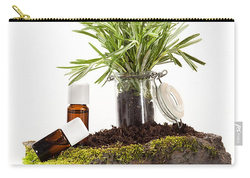 Ethereal Carry-all Pouch featuring the photograph Essential Oil Of Rosemary by Wolfgang Steiner