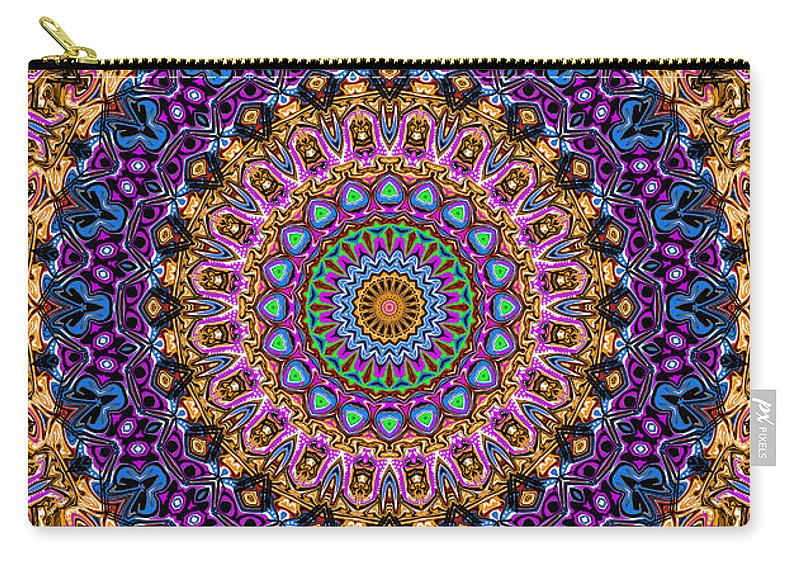 Digital Carry-all Pouch featuring the digital art Estate Jewels Mandala No. 2 by Joy McKenzie