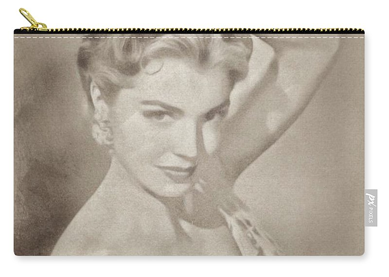 Classic Carry-all Pouch featuring the pastel Esther Williams, Vintage Hollywood Actress by John Springfield