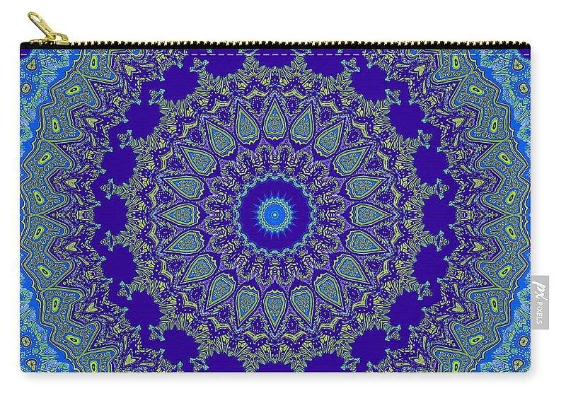 Digital Carry-all Pouch featuring the digital art Eternal Sea by Joy McKenzie
