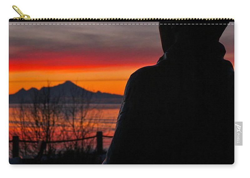 Silhouette Carry-all Pouch featuring the photograph Eternal Sunset by Rick Monyahan