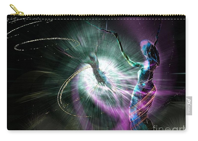 Nature Painting Carry-all Pouch featuring the painting Eternel Feminin 02 by Miki De Goodaboom