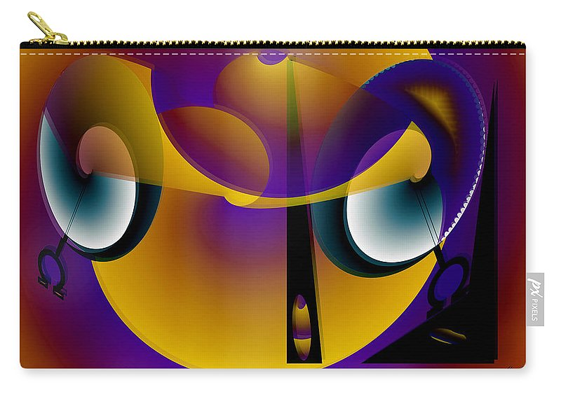Eternity Carry-all Pouch featuring the digital art Eternity clock by Helmut Rottler