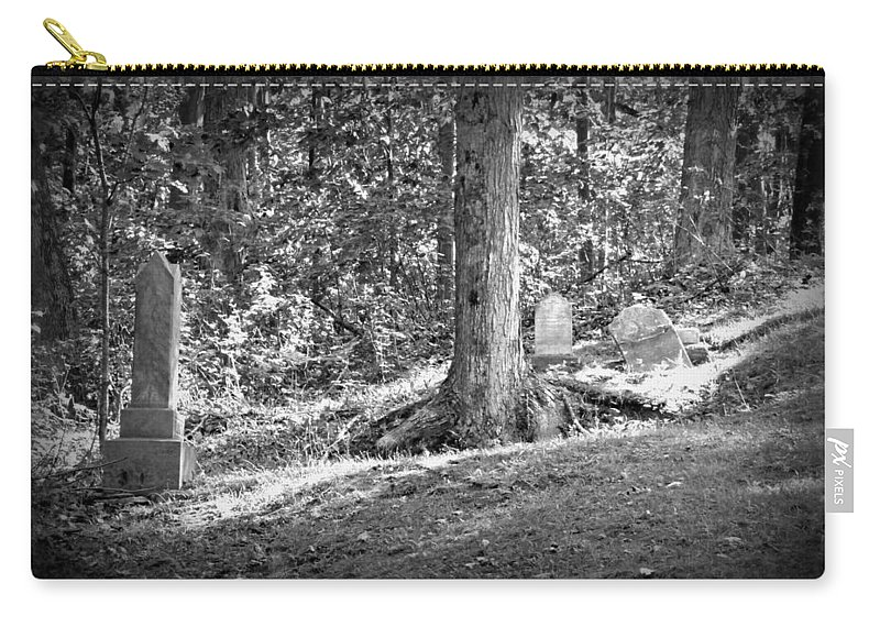 Cemetery Carry-all Pouch featuring the photograph Eternity In The Woods by Scott Ward