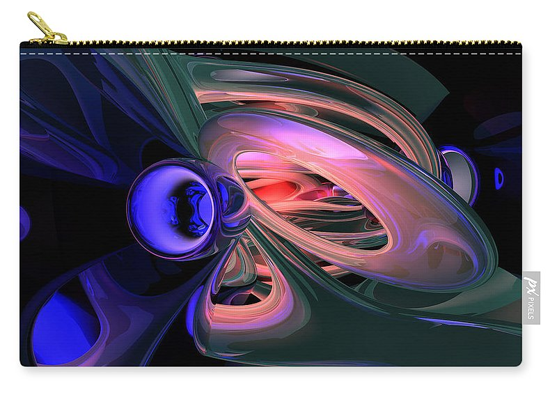 3d Carry-all Pouch featuring the digital art Ethereal Abstract by Alexander Butler