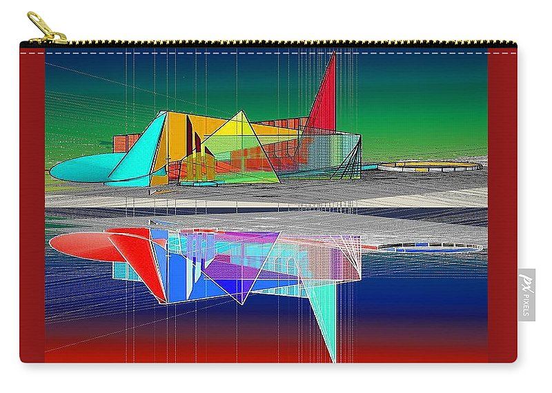 Cathedral Carry-all Pouch featuring the digital art Ethereal Reflections by Don Quackenbush