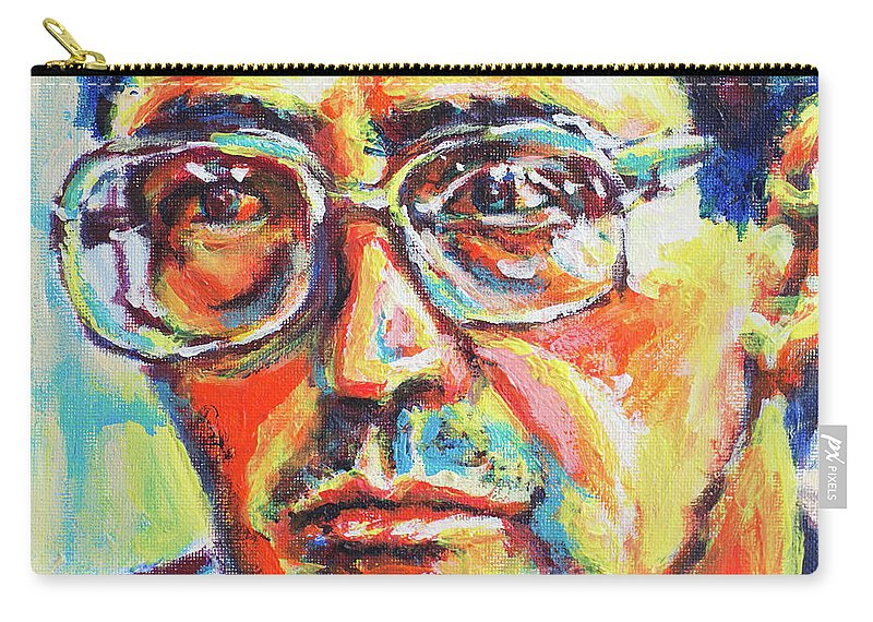 Eugene Carry-all Pouch featuring the painting Eugene by Larry Ger