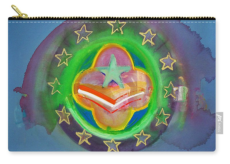 Symbol Carry-all Pouch featuring the painting Euro Star And Stripes by Charles Stuart