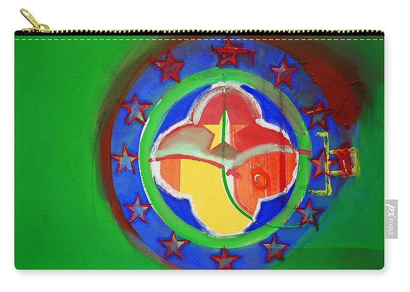 Symbol Carry-all Pouch featuring the painting Euromarine by Charles Stuart