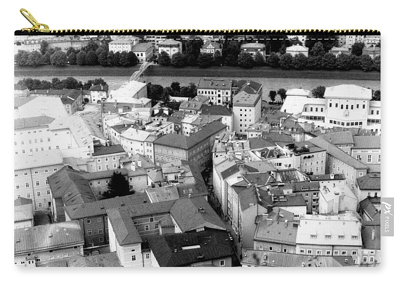 Rofftops Carry-all Pouch featuring the photograph European Rooftops by Michelle Calkins