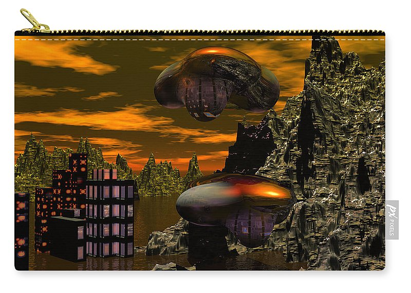 Digital Painting Carry-all Pouch featuring the digital art Evacuation by David Lane
