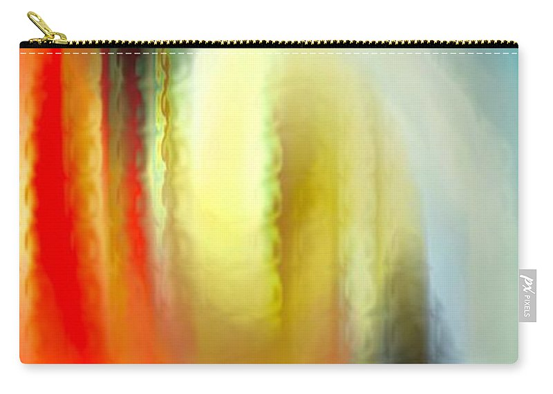 Abstract Carry-all Pouch featuring the digital art Evanescent Emotions by Gwyn Newcombe