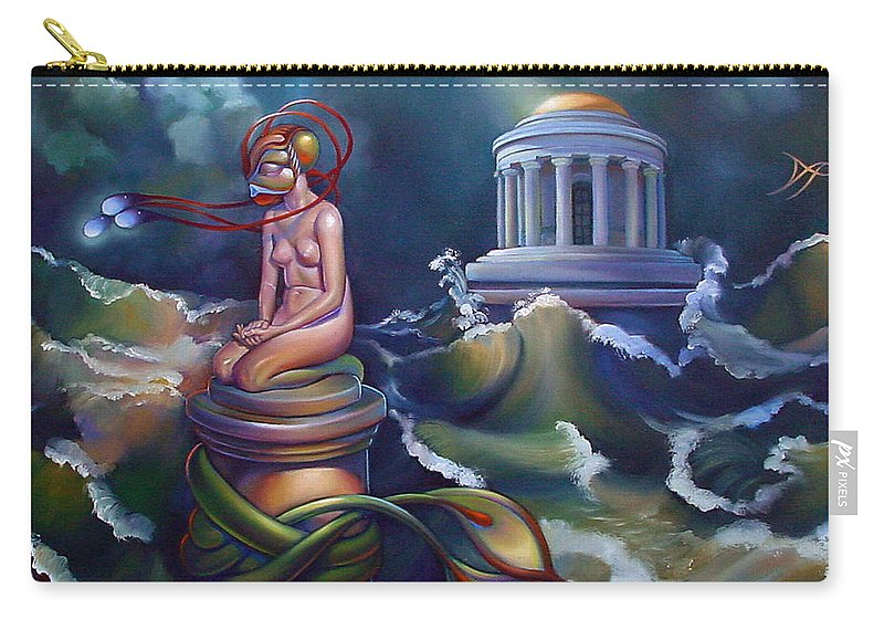Mermaid Carry-all Pouch featuring the painting Eve by Patrick Anthony Pierson