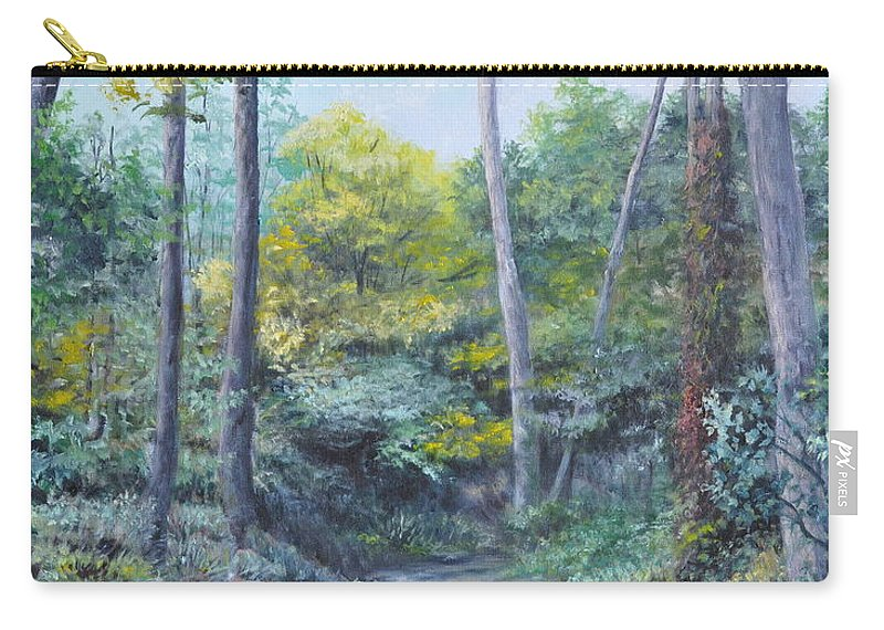 Oil Painting Carry-all Pouch featuring the painting Even The Trees Praise by Penny Neimiller