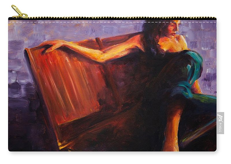 Figure Carry-all Pouch featuring the painting Even Though by Jason Reinhardt