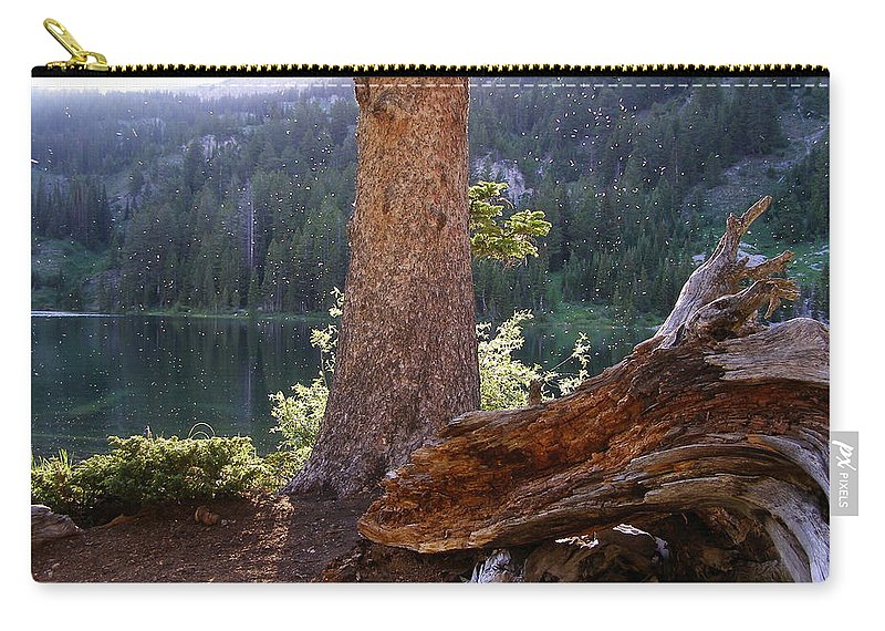 Lake Carry-all Pouch featuring the photograph Evening At Barstow by DeeLon Merritt