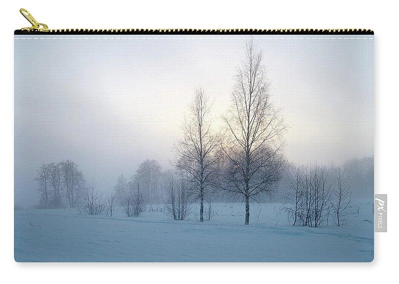 Lehtokukka Carry-all Pouch featuring the photograph Evening Birches by Jouko Lehto