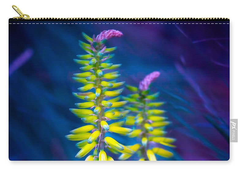 Aloe Carry-all Pouch featuring the photograph Aloe Flowers by Mark Andrew Thomas