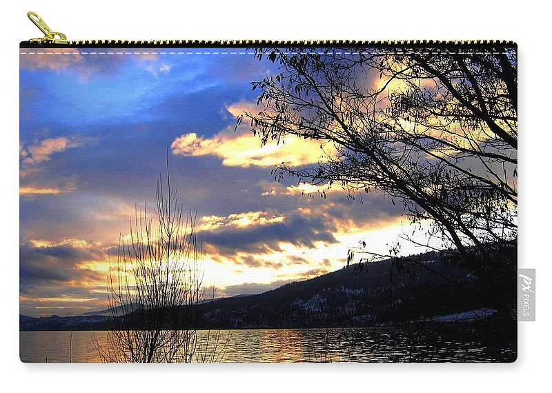 Sunset Carry-all Pouch featuring the photograph Evening Exhibition by Will Borden