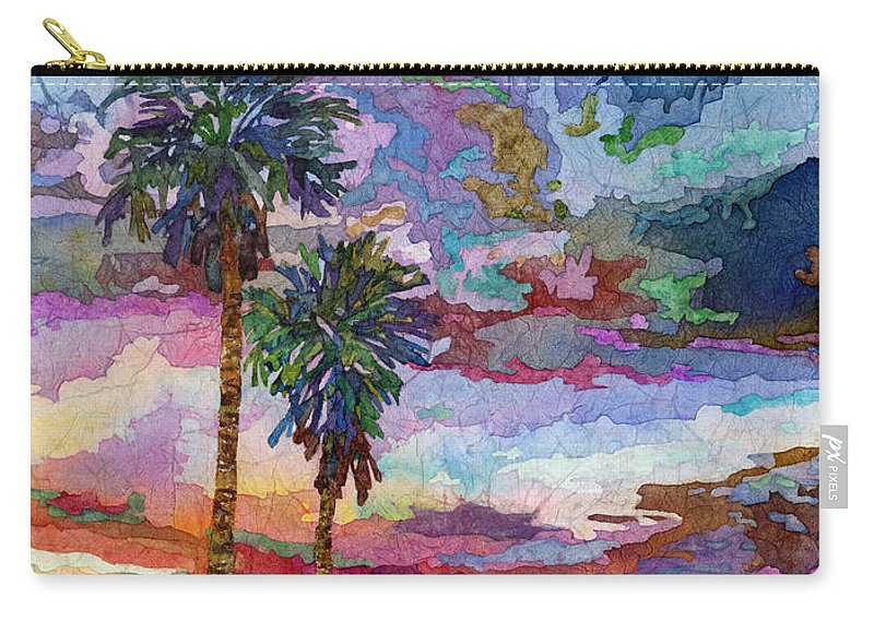 Sunset Carry-all Pouch featuring the painting Evening Glow by Hailey E Herrera