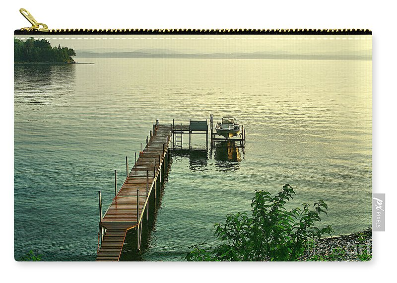Lake Carry-all Pouch featuring the photograph Evening In Charlotte by Deborah Benoit