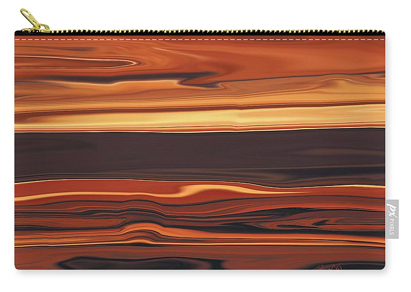 Abstract Carry-all Pouch featuring the digital art Evening In Ottawa Valley 1 by Rabi Khan