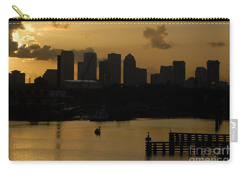 Tampa Bay Florida Carry-all Pouch featuring the photograph Evening In Tampa by David Lee Thompson