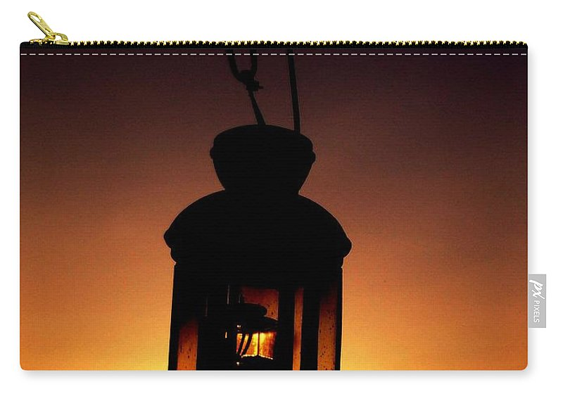 Lantern Carry-all Pouch featuring the photograph Evening Lantern by Tim Allen