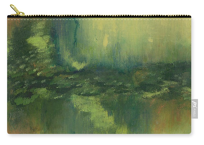 Abstract Painting Carry-all Pouch featuring the painting Evening Light by Debbie Smith