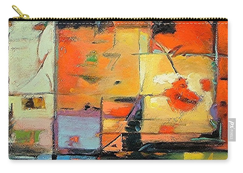 Abstract Painting Carry-all Pouch featuring the painting Evening Light by Gary Coleman