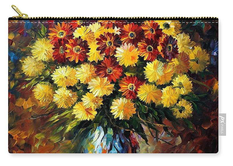 Afremov Carry-all Pouch featuring the painting Evening Mood by Leonid Afremov