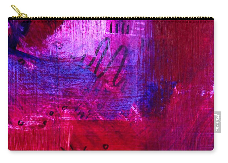 Blue Carry-all Pouch featuring the painting Evening by Nancy Merkle