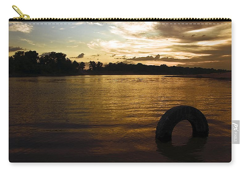 Aqua Carry-all Pouch featuring the photograph Evening River by Svetlana Sewell