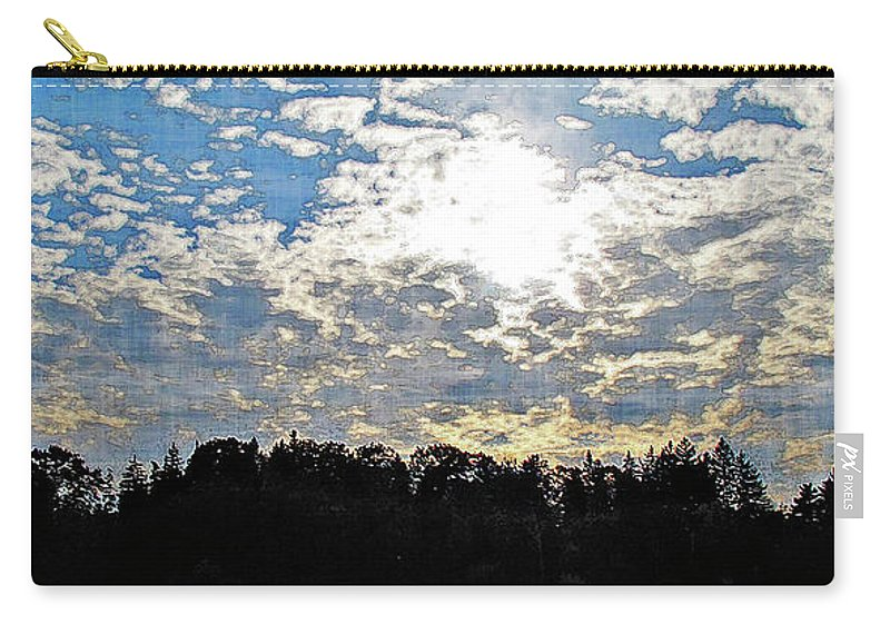 Landscape Carry-all Pouch featuring the digital art Evening Shadows by Joan Minchak