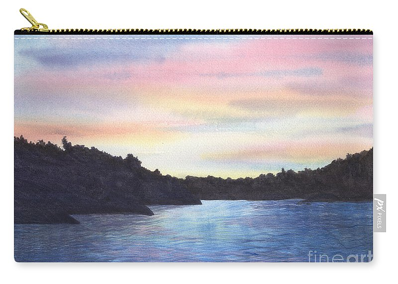 Sunset Carry-all Pouch featuring the painting Evening Silhouette by Lynn Quinn